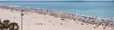 Panorama_playa de Cádiz - R.Sánchez